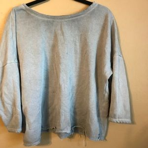 Over sized cropped sweatshirt top